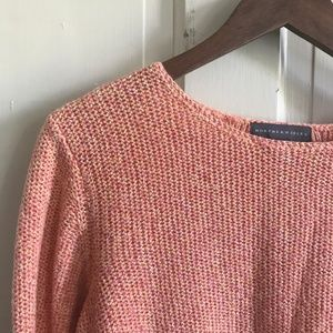 Northern Isles Sweater, Crochet Sweater, Coral Top